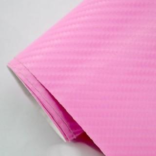 4D Карбоново Фолио - Розово