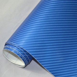 4D Карбоново Фолио - Синьо