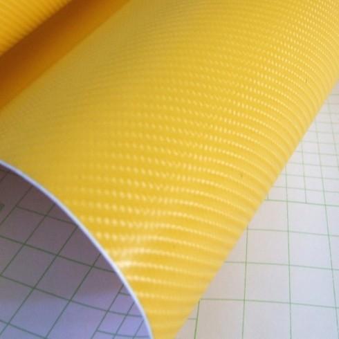 4D Карбоново Фолио - Жълто