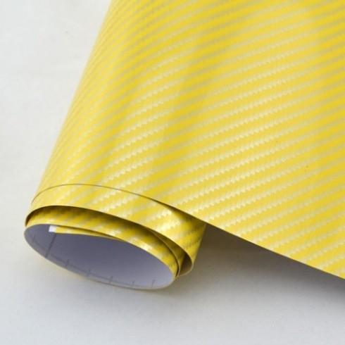 2D Жълто Карбоново фолио - 1.27м
