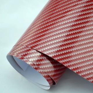 2D Червено Карбоново фолио - 1.27м