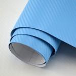 3D Карбоново Фолио TR1 - Светло Синьо +UV 1.27м